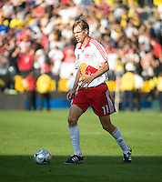 Dave van den Bergh dribbles during MLS Cup 2008. Columbus Crew defeated the New York Red Bulls, 3-1, Sunday, November 23, 2008. Photo by John Todd/isiphotos.com