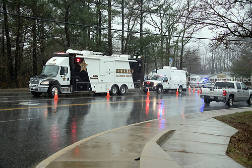 Police activity around Great Mills High School in Great Mills, Maryland where two students were wounded and one student was killed on Tuesday, March 20, 2018. <br /> Credit: Ron Sachs / CNP<br /> (RESTRICTION: NO New York or New Jersey Newspapers or newspapers within a 75 mile radius of New York City)