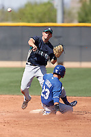 Dustin Ackley of the Seattle Mariners plays in a minor league spring training game against the Kansas City Royals at the Royals minor league complex on March 26, 2011  in Surprise, Arizona. .Photo by:  Bill Mitchell/Four Seam Images.