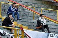 BOGOTA - COLOMBIA -24 -09-2017: Hinchas de Millonarios previo al encuentro entre Millonarios y Deportivo Pasto por la fecha 13 de la Liga Aguila II 2017 jugado en el estadio Nemesio Camacho El Campin de la ciudad de Bogota. / Fans of Millonarios prior the match between Millonarios and Deportivo Pasto for the date 13 of the Liga Aguila II 2017 played at the Nemesio Camacho El Campin Stadium in Bogota city. Photo: VizzorImage / Gabriel Aponte / Staff.