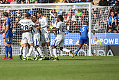 9th September 2017, King Power Stadium, Leicester, England; EPL Premier League Football, Leicester City versus Chelsea; The Chelsea team surround Ngolo Kanté of Chelsea as he scores a goal to put Chelsea 2-0 in front