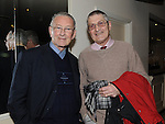 Fr Willie Cleary and John Moore pictured at the Mornington Gospel Choir concert in the Glenside hotel. Photo: Colin Bell/pressphotos.ie