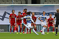 Eberechi Eze of Queens Park Rangers freekick hits the wall during Queens Park Rangers vs Fulham, Sky Bet EFL Championship Football at the Kiyan Prince Foundation Stadium on 30th June 2020