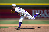 Winston-Salem Dash starting pitcher Ian Clarkin (20) follows through on his delivery against the Salem Red Sox at BB&T Ballpark on July 23, 2017 in Winston-Salem, North Carolina.  The Dash defeated the Red Sox 11-10 in 11 innings.  (Brian Westerholt/Four Seam Images)
