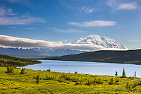 Mt. Denali, North America's Tallest Mountain And Wonder Lake, Denali National Park, Interior, Alaska.