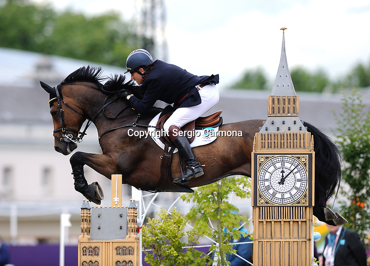 Olympic Games 2012; Equestrian - Venue: Greenwich Park. Peter Charles (GBR).Horse: Vindicat.