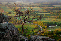 A view from the overlook at Petit Jean State Park in Arkansas.