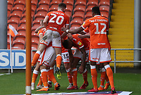 Blackpool's Curtis Tilt celebrates scoring his side's third goal <br /> <br /> Photographer Rachel Holborn/CameraSport<br /> <br /> The EFL Sky Bet League One - Blackpool v Bradford City - Saturday September 8th 2018 - Bloomfield Road - Blackpool<br /> <br /> World Copyright &copy; 2018 CameraSport. All rights reserved. 43 Linden Ave. Countesthorpe. Leicester. England. LE8 5PG - Tel: +44 (0) 116 277 4147 - admin@camerasport.com - www.camerasport.com