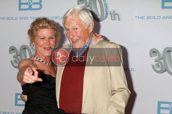 """Alley Mills, Orson Bean<br /> at the """"The Bold and The Beautiful"""" 30th Anniversary Party, Clifton's Downtown, Los Angeles, CA 03-18-17<br /> David Edwards/DailyCeleb.com 818-249-4998"""