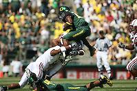 2 September 2006: David Lofton and Trevor Hooper (24) during Stanford's 48-10 loss to the Oregon Ducks at Autzen Stadium in Eugene, OR.