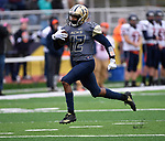 Althoff wide receiver Melvin Brock runs in Althoff's first touchdown with 10:25 left in the first quarter. The Althoff Catholic High School Crusaders defeated the Carterville Lions 42-0 in a first-round Illinois High School Association Class 4A football playoff game on Saturday October 28, 2017 in Belleville.