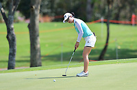 PATTAYA, THAILAND - FEBRUARY 22: Minjee Lee of Australia 2nd shot on the 16th green during the second round of the Honda LPGA Thailand 2019 at Siam Country Club Pattaya (Old Course), Pattaya, Thailand on February 22, 2019.<br /> .<br /> .<br /> .<br /> (Photo by: Naratip Golf Srisupab/SEALs Sports Images)<br /> .<br /> Any image use must include a mandatory credit line adjacent to the content which should read: Naratip Golf Srisupab/SEALs Sports Images