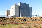The decommissioned Magnox reactor block of Sizewell A nuclear power station, officially opened 7 April 1967 and operational until  31 December 2006, near Leiston, Suffolk, England