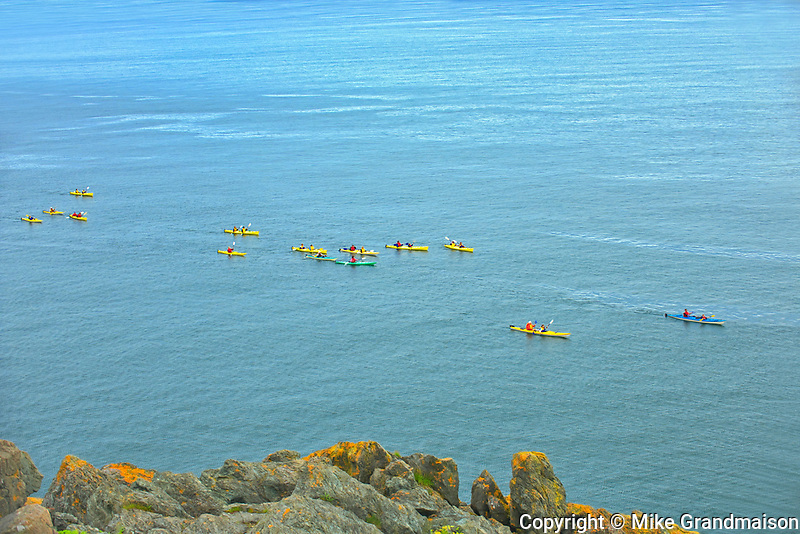 Kayaks in Bay of Fundy<br />Grand Manan Island<br />New Brunswick<br />Canada<br />Grand Manan Island<br />New Brunswick<br />Canada