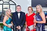 Emma Harte, Chris Manton, Siobhan Barry and Gillian all Killarney at the Kerry Garda ball in the Killarney Oaks Hotel on Friday night