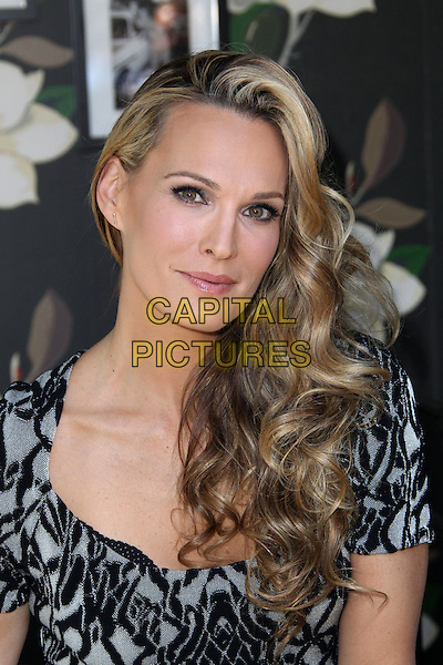 Molly Sims<br /> Airbnb Presents Hello LA With Celebrity-Designed Pop-Ups - Molly Sims  Held at The Grove, Los Angeles, California, USA.<br /> September 30th, 2013<br /> headshot portrait black grey gray pattern <br /> CAP/ADM/KB<br /> &copy;Kevan Brooks/AdMedia/Capital Pictures