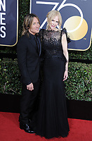 www.acepixs.com<br /> <br /> January 7 2018, LA<br /> <br /> Keith Urban and Nicole Kidman arriving at the 75th Annual Golden Globe Awards at The Beverly Hilton Hotel on January 7, 2018 in Beverly Hills, California.<br /> <br /> By Line: Peter West/ACE Pictures<br /> <br /> <br /> ACE Pictures Inc<br /> Tel: 6467670430<br /> Email: info@acepixs.com<br /> www.acepixs.com