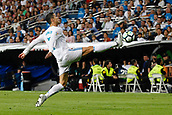 1st October 2017, Santiago Bernabeu, Madrid, Spain; La Liga football, Real Madrid versus Espanyol; Cristiano Ronaldo dos Santos (7) Real Madrid streteches to reach the ball