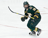 Anthony DeCenzo (UVM - 14) - The Boston College Eagles defeated the University of Vermont Catamounts 4-1 on Friday, February 1, 2013, at Kelley Rink in Conte Forum in Chestnut Hill, Massachusetts.