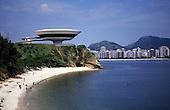 Niteroi, Rio de Janeiro, Brazil. Museum of Contemporary Art, designed by Oscar Niemeyer.