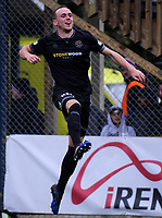 Team Wellington's Taylor Schrijvers celebrates scoring the 6th goal during the Oceania Football Championship final (first leg) football match between Team Wellington and Lautoka FC at David Farrington Park in Wellington, New Zealand on Sunday, 13 May 2018. Photo: Dave Lintott / lintottphoto.co.nz