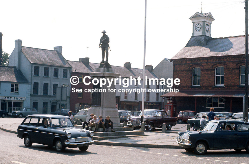 Town centre, Dromore, Co Down, N Ireland, September 1971, 197109000454a..Copyright Image from Victor Patterson, 54 Dorchester Park, Belfast, United Kingdom, UK...For my Terms and Conditions of Use go to http://www.victorpatterson.com/Victor_Patterson/Terms_%26_Conditions.html