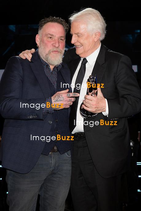 Bouli Lanners &amp; Andr&eacute; Dussollier :  7&egrave;me C&eacute;r&eacute;monie des Magritte du Cin&eacute;ma, qui r&eacute;compense le septi&egrave;me art belge, au Square, &agrave; Bruxelles.<br /> 7th edition of the Magritte du Cinema awards ceremony.<br /> Belgium, Brussels, 4 February 2017