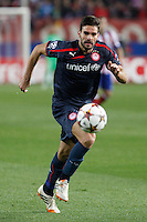 Olympiacos´s Alberto Botia during Champions League soccer match between Atletico de Madrid and Olympiacos at Vicente Calderon stadium in Madrid, Spain. November 26, 2014. (ALTERPHOTOS/Victor Blanco) /NortePhoto