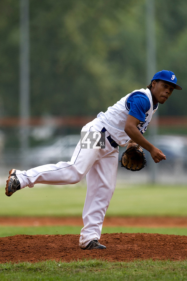 BASEBALL - EUROPEAN UNDER -21 CHAMPIONSHIP - PAMPELUNE (ESP) - 03 TO 07/09/2008 - PHOTO : CHRISTOPHE ELISE.FRANCE VS GERMANY (WINNER 8-6) -.EURI GARCIA MARTINEZ (FRANCE)