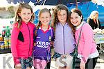 Kayla Getkate (Dingle), Orla Ní Dhubhain (Ballyferriter), Hayley Getkate (Dingle) and Martha Ní Loingsigh (Ballyferriter) at the Béal Ban Pony Races on Sunday.