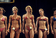 Los Angeles, 1980. Group of contestents at California Women's Bodybuilding Championship. No13, Shelley Gruwell.