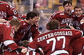 Viktor Dombrovskiy (Harvard - 27), John Marino (Harvard - 12), Tyler Moy (Harvard - 2), Lewis Zerter-Gossage (Harvard - 77), Ryan Donato (Harvard - 16), Phil Zielonka (Harvard - 72) - The Harvard University Crimson defeated the Boston University Terriers 6-3 (EN) to win the 2017 Beanpot on Monday, February 13, 2017, at TD Garden in Boston, Massachusetts.