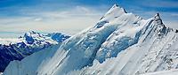 Weisshorn summit ridge Panorama