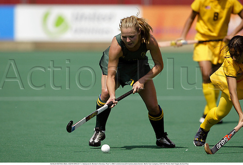 NATALIE HAYNES (RSA), SOUTH AFRICA 11 v Malaysia 0, Women's Hockey, Pool 1, 2002 Commonwealth Games,Manchester, Belle Vue Complex, 020726. Photo: Neil Tingle/Action Plus...woman.field.female