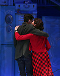 Adam Chanler-Berat and Phillipa Soo during the Broadway Opening Night Performance Curtain Call for 'Amelie' at the Walter Kerr Theatre on April 3, 2017 in New York City