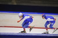 SCHAATSEN: HEERENVEEN: 19-09-2014, IJsstadion Thialf, Topsporttraining, Lucas van Alphen, Jos de Vos, ©foto Martin de Jong