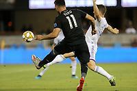 SAN JOSE, CA - AUGUST 31:  Valeri Qazaishvili of the San Jose Earthquakes and Will Johnson of Orlando City during a Major League Soccer (MLS) match between the San Jose Earthquakes and the Orlando City SC  on August 31, 2019 at Avaya Stadium in San Jose, California.