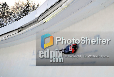 17 December 2010: Marion Thees sliding for Germany, finishes in 1st place at the Viessmann FIBT Skeleton World Cup Championships in Lake Placid, New York, USA. Mandatory Credit: Ed Wolfstein Photo
