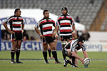Steelers forwards  wait as Blair Feeney prepares to kick a penalty during the Air NZ Cup rugby game between Bay of Plenty & Counties Manukau played at Blue Chip Stadium, Mt Maunganui on 16th of September, 2006. Bay of Plenty won 38 - 11.