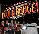 """Robyn Hurder, Ricky Rojas, Aaron Tveit, Tam Mutu, Karen Olivo and Sahr Ngaujah during the """"Moulin Rouge! The Musical"""" - Vinyl Release signing at Sony Square on December 13, 2019 in New York City."""