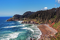 A view of the Heceta Head and the Beach at Devil's Elbow, Oregon.