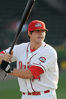 April 17, 2008: Catcher Ty Weeden (14) of the Greenville Drive, Class A affiliate of the Boston Red Sox, in a game against the Greensboro Grasshoppers at Fluor Field at the West End in Greenville, S.C. Photo by:  Tom Priddy/Four Seam Images
