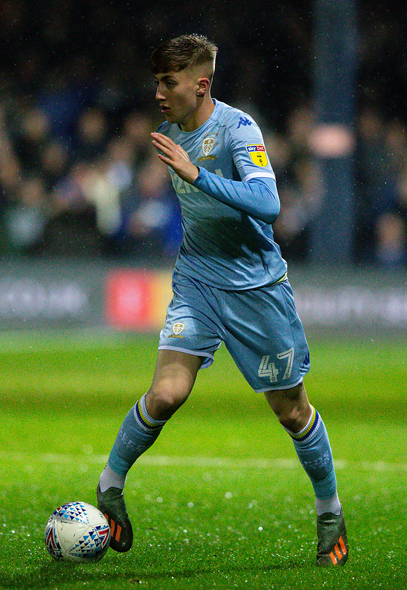 Leeds United's Jack Clarke in action<br /> <br /> Photographer Alex Dodd/CameraSport<br /> <br /> The EFL Sky Bet Championship - 191123 Luton Town v Leeds United - Saturday 23rd November 2019 - Kenilworth Road - Luton<br /> <br /> World Copyright © 2019 CameraSport. All rights reserved. 43 Linden Ave. Countesthorpe. Leicester. England. LE8 5PG - Tel: +44 (0) 116 277 4147 - admin@camerasport.com - www.camerasport.com