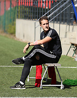 OHL's head coach Jimmy Coenraets pictured before  a female soccer game between Standard Femina de Liege and Oud Heverlee Leuven on the second matchday of the 2020 - 2021 season of Belgian Scooore Women s SuperLeague , saturday 5 th of September 2020  in Angleur , Belgium . PHOTO SPORTPIX.BE | SPP | SEVIL OKTEM