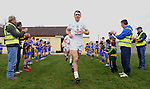 25-02-12:  Kildare captain Johnny Doyle leads his side out for the senior football challenge match between Kerry and Kildare at the Ballymacelligott GAA Club official pitch reopening on Saturday.  Picture: Eamonn Keogh (MacMonagle, Killarney)