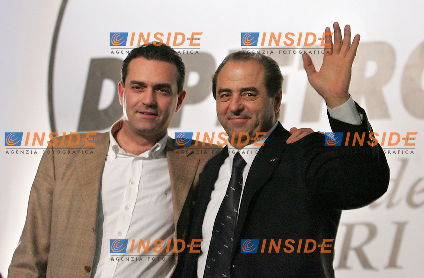 LUIGI DE MAGISTRIS E ANTONIO DI PIETRO<br /> Roma 05/02/2010 Primo congresso dell'Italia dei Valori IDV.<br /> First congress of the Italian party Italia dei Valori.<br /> Photo Samantha Zucchi Insidefoto