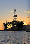 Oil rig repair in harbour city of Almeria, Spain
