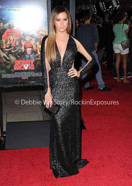 Ashley Tisdale at The Dimension Films Premiere of Scary Movie V held at The Cinerama Dome in Hollywood, California on April 11,2013                                                                   Copyright 2013 Hollywood Press Agency