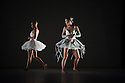 London, UK. 17.06.2014. Dada Masilo's SWAN LAKE at Sadler's Wells, as part of the Sadler's Sampled two week festival. Picture shows: Nicola Haskins (Siegfried's Mother) and Dada Masilo (Odette). Photograph © Jane Hobson.