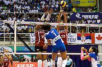 RIO DE JANEIRO, 27.04.2014 -   Gabi da equipe Unilever (RJ) ataca durante a final da Liga 2013/2014 disputada neste domingo no Maracanazinho. (Foto: Néstor J. Beremblum / Brazil Photo Press)